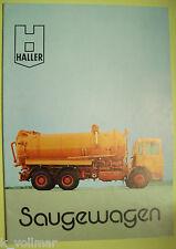 ✪altes Original LKW Prospekt/Broschüre Haller Saugewagen