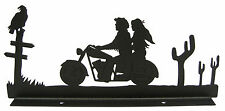 Motorcycle Riders Mailbox Topper Decor Man Woman