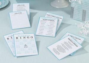 Bridal Shower Game Cards Wedding Bridal Shower Games - Includes 4 Games!