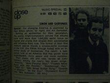 1969 TV Guide(RETA SHAW/MICHAEL LANDON/CARLA BORELLI/SIMON AND GARFUNKEL/BONANZA