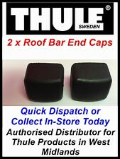 2 X GENUINE THULE REPLACEMENT END CAPS FOR BLACK ROOF BARS 760 761 762 763 769