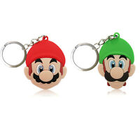 2x Super Mario Bros PVC Kawaii Cartoon Novelty Novelty Keyring Keychain Gift Bag