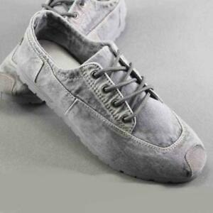Mens Breathable Denim Loafers Lace Up Sneakers tennis Driving casual Shoes