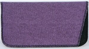 NEW Soft Safety Eyeglasses Glasses Purple Case Pouch W/ Cleaning Cloth 165x84mm