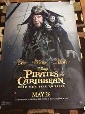 Pirates Of T Caribbean Dead Men Tell No Tales Original Bus Shelter Movie Poster