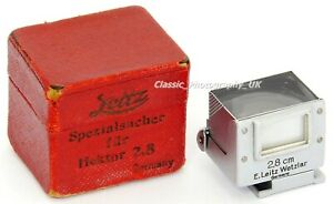 RARE Boxed Leitz SUOOQ 2,8cm View Finder for LEICA Hektor f=2.8cm 1:6.3 Lens