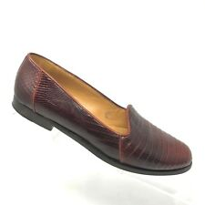 7ffa020b2bc Cole Haan Lizard Embossed Loafer Brown Leather Career Shoe Womens Size 6 B  ITALY