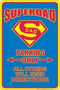 Superdad Parking Only Lustige Metall Schild 305mm x 205mm(Sf)