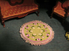 Lovely Pink Rose Mini Rug for your Miniature Dollhouse Living Room or other
