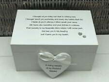 Personalised LARGE Memory Box Loved One ~ HUSBAND ~ Any Name ~ Bereavement Loss