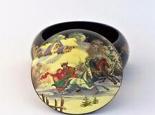 Boîte à bijoux collection décor D13 H7  miniature laquée bois peint à main signé