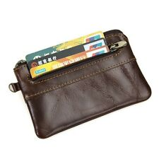 Vintage Genuine Leather Men Coin Purse Casual Small Pocket Wallet Card Holder
