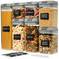 Shazo Airtight Container Set for Food Storage - 7 Piece Set + w/Grey Intercha...