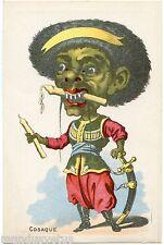 GRAND CHROMO. Chaussures SAMBAIN . TOULON . Caricature COSAQUE .