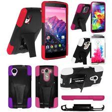 AMZER a prueba de impactos Híbrida de doble capa con soporte para LG Motorola Samsung Sony Nokia