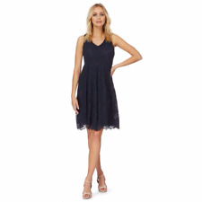 Debenhams The Collection Navy Floral Lace Prom Dress Size UK 14 LF079 CC 02