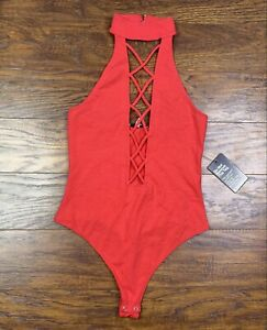 express swimsuit one piece womens small petite red E3