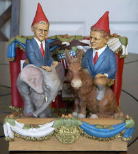 *Edition #1 Tom Clark Gnomes George W Bush, Al Gore w Merck Debating Platform
