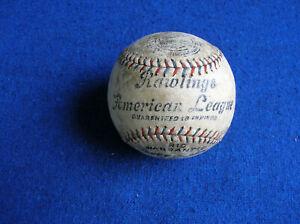 Rawlings American League baseball red & blue stitch Rare