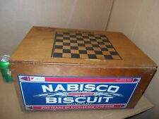 Nabisco Wood Checker Board  Crate, Lid 200 years 1792-1992 Biscuit Crackers Box