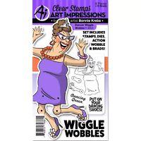 Art Impressions Dancer Wiggle Wobble Stamp & Die Set 4953 NEW!