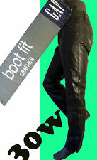 GAP leather jean biker black 30 boot cut bdsm motorcycle cowboy pant