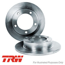 Genuine TRW Rear Solid Coated Brake Discs Set Pair - DF4191