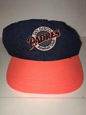 Vtg Nylon San Diego Padres Snapback hat cap rare MLB Baseball Quick Ship  P