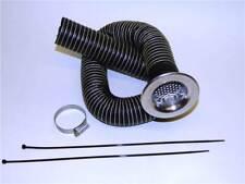Revotec 102mm alimentation air frais Kit avec argent uni admission Trompette (