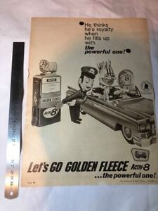 Golden Fleece Vintage Collectable Magazine Print Ad Advertising 1966