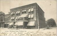POSTCARD EARLY 1900  MERCHANTS HOTEL PORTLAND INDIANA