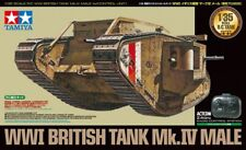 Tamiya 1/35 WWI British Tank Mk.IV Male (w/Control Unit) Plastic Model Kit 48214