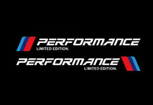 2Pcs M Performance Limited Edition Sticker Racing Sports White Decals For Bmw M3