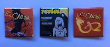BLONDIE 3 x 1.5-inch Square BADGES Buttons Pins NEW OFFICIAL MERCHANDISE