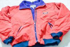 Vintage LL Bean Jacket Warm Up Jacket Red Nylon With Polyester Lining Medium