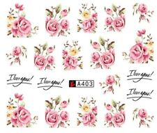 Nagelsticker Nagel Tattoos Blumen Blüten Rose Flowers Rosen Nail Design Sticker