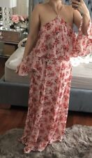 Gorgeous ASOS ruffle Maxi Dress With Cold Shoulder Size 2 New Floral