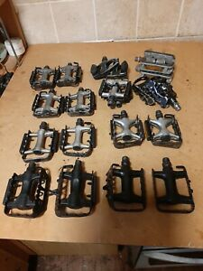 Road / MTB / ATB bike pedals joblot of 10 Wellgo , Deore etc...9/16th