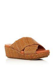 e7cd7abdd31a8 Gentle Souls Women s Mikenzie Woven Platform Slide Sandals Size 11 Dark  Natural