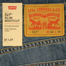 Levis 527 Jeans Boot Cut Slim Size 34 X 30 MEDIUM CHIPPED Mens New Levi's NWT