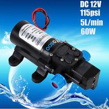12V 115Psi High Pressure Diaphragm Self Priming Water Pump 5L/min  60W UK seller