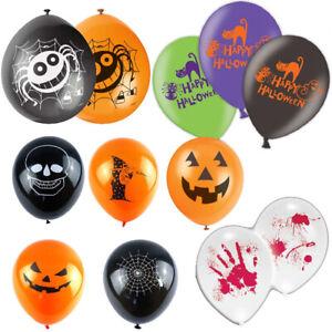Happy Halloween Balloons Party Decoration Pumpkin Ghost Bat Skull Boodly Spider