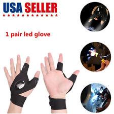 A Pair LED Finger Glove Flashlight Waterproof Gear Rescue Auto Repair Lighting