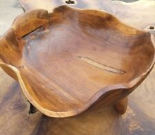 Teak root stool bowl fruit bowl home decor