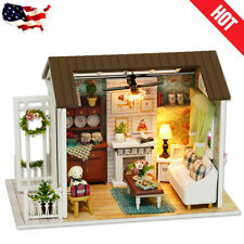 Dollhouse DIY Wooden Miniature Furniture Doll House Room Model  Educational Toy