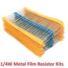 14w 025w Metal Film Resistors Kit 1 Electronics Component Classification Kit