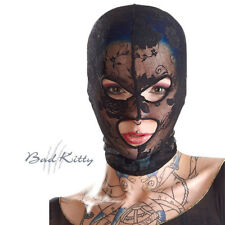 Maschera elastica di pizzo nero donna Bad Kitty Black elastic lace mask woman