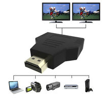 Useful 1080P HDMI Port Male to 2 Female 1 In 2 Out Splitter Adapter Converter