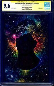 Infinity Gauntlet #1 BRONZE FOIL CGC SS 9.6 signed George Perez Marvel Aventuras