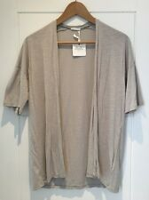 American Vintage Cotton Short Sleeve Light Grey Cardigan Top S Small New NWT